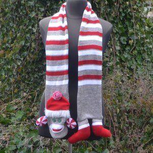 Accessories - Sock Monkey Striped Scarf